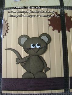 Little mouse using Stampin' Up! punches