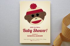 Sock Monkey Baby Shower   Sock Monkey Baby Shower Invitations by Jessie Steu...   Minted