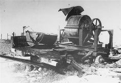Nazi bone-crushing machine used to grind human bones in order to obtain fertilizer in the Janowska concentration camp. August 1944.  — US Holocaust Memorial Museum