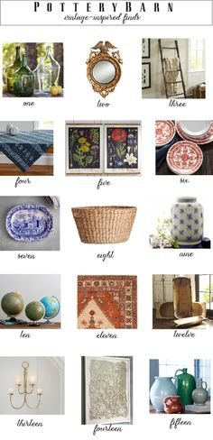 Vintage-inspired accessories from @potterybarn