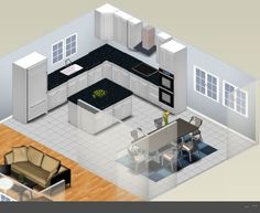 L Shaped Kitchen Designs With Island | ... Shaped Kitchen Plan – Kitchen Layout L Shaped With Island