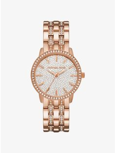 Nini Pavé Rose Gold-Tone Watch