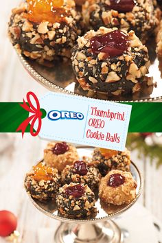 Leave your mark on the holidays with this Thumbprint OREO Cookie Balls recipe. Tasty, delectable, two-bite delights. Create this #NabiscoHolidayRecipe and more at www.snackworks.com Holiday Cookie Recipes, Candy Recipes, Holiday Baking, Christmas Baking, Dessert Recipes, Best Christmas Cookies, Christmas Snacks, Holiday Cookies, Oreo Cookie Balls Recipe