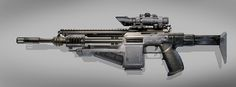 Futuristic Assault Rifle concept from Colin Gellar.