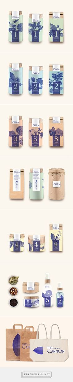 Thés George Cannon on Behance by Marion Dufour: Soft enticing packaging branding.
