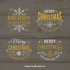 Vector christmas badges and labels Free Vector Vector Christmas, Labels Free, Christmas Windows, Badges, Vector Free, Tags, Christmas Shop Displays, Badge, Blank Labels