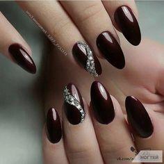 Maroon Nails, Burgundy Nails, Red Nails, Speing Nails, Burgundy Nail Designs, Colorful Nail Designs, Nail Art Designs, Wine Nails, Long Nail Art
