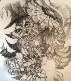 Ode to owls. Bild Tattoos, Body Art Tattoos, New Tattoos, I Tattoo, Sleeve Tattoos, Tatoos, Turtle Tattoos, Owl Tattoo Drawings, Anatomy Tattoo