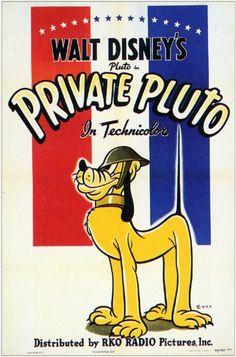 """Private Pluto"" Chip 'N' Dale Disney Cartoon short movie poster"