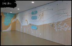 Art mural et identité murale sur mesure pour l'entreprise Vygon Wayfinding Signage, Environmental Graphics, Art Mural, Sustainability, Scene, Cabinet, Inspiration, Business, Outer Space