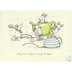 ♥ ʕ •́؈•̀ ₎ How to make a cup of tea from Anita Jeram. ʕ •́؈•̀ ₎