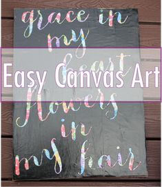 You only need a few supplies to create this Easy Canvas Art.