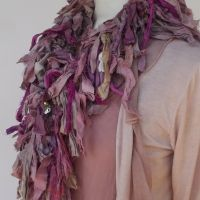 Vintage sari scarf Pinks  £79.99 made by Feathers Of Italy