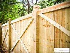 The College™ X-Framed Wood Privacy Fence | Pictures & Per Foot Pricing