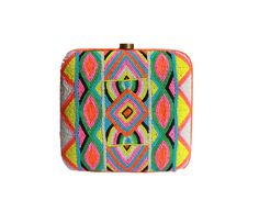 Zura Neon Box Clutch   by O'Frida  bags and accessories (India)