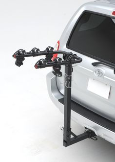 """Hollywood Racks HR6000 Traveler 3-Bike Hitch Mount Rack (2-Inch Receiver). Easy to adjust. Will not damage your vehicle. Pre-assembled. Carries up to 3 bikes and fits 2"""" hitches. Bike support Arms fold when not in use. Rack tilts down for easy cargo access."""