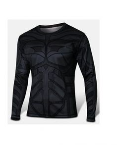 36ac5fb88 Animated Batman Long Sleeve Compression Shirt Batman Cosplay Costume
