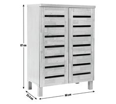 buy slatted 2 door shoe storage cabinet mahogany effect. Black Bedroom Furniture Sets. Home Design Ideas