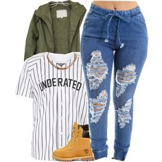 A fashion look from September 2015 featuring Timberland ankle booties and Givenchy necklaces. Browse and shop related looks.