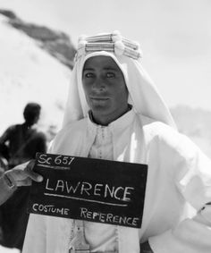 Peter O'Toole working on Lawrence of Arabia (1962)
