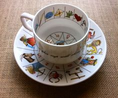 """Excited to share this item from my shop: Tea Cup by Jon Anton, Vintage """"Ironstone made in England"""" Astrology, Fortune Telling, Tasseography Reading Tea Leaves, Tea Reading, China Cups And Saucers, Vintage Dinnerware, Star Gift, Fortune Telling, Tea Art, Bone China, Cup And Saucer"""