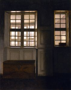 Interior with a View of an Exterior Gallery - Vilhelm Hammershøi - 1903