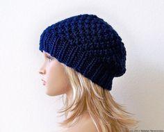 KNITTING PATTERN Slouchy Hat Pattern Knit Hat by natalya1905