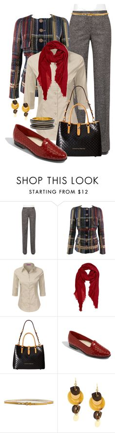 """""""Cool Weather Work Wear"""" by jennifernoriega ❤ liked on Polyvore featuring Akris Punto, Chanel, Peach Couture, Dooney & Bourke, Trotters, Momonì, Marni and Chico's"""