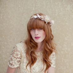 soft and lovely - bridal hair minus bangs