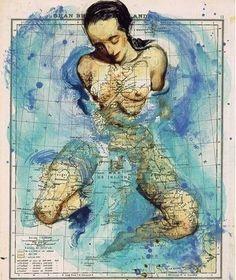 Unusual Atlas - map illustration woman