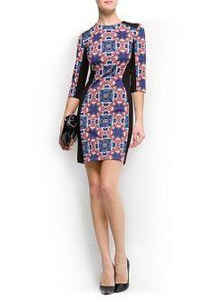 MANGO - CLOTHING - Dresses - Printed panels dress