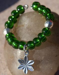 Silver Lined Beads - Green