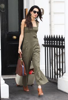 What: A green jumpsuit   	   	  When: June 25, 2015  Where: London   - MarieClaire.com
