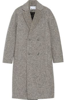 T by Alexander Wang Donegal reversible wool-blend felt coat | THE OUTNET