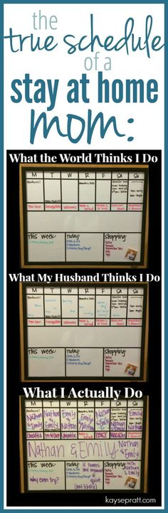 The True Schedule of a Stay-At-Home Mom - It's a little more complicated that we were led to believe...