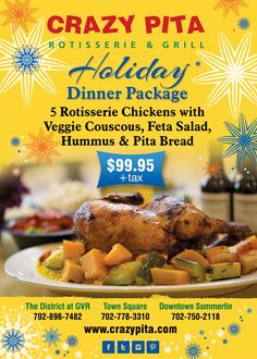 Dinner packages at #Crazypita