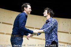 """Andrew Scott and Ben Whishaw in the play """"Cock"""" (2009) at the Royal Court"""