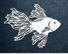 SVG / PDF cut file, Paper Cutting Template, Gold fish, papercut, diy project, vinyl, digital printing template