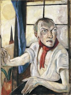 """Max Beckmann's """"Self-Portrait with Red Scarf"""""""