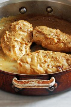 This healthy yet elegant weeknight chicken dish came to The Times in 1988, courtesy of Jacques Pépin It's simple but loaded with flavor, and you can throw it together in about a half hour Just sauté the chicken until golden, then make a quick sauce from onions, water and mustard and reduce until thick