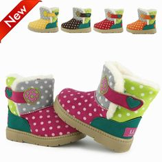 Fashion Children Winter Boots Snow Boots For Boys & Girls PU Material Anti-skidding Rubber Bottom  Free Shipping!