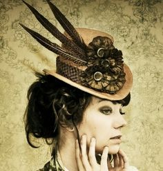 Steampunk Top Hat #fashion #victorian by concepcion