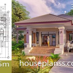 Small House Design Plans with 2 Bedrooms Full Plans - House Plans Sam House Roof Design, Simple House Design, Shop House Plans, House Floor Plans, Mountain Ranch House Plans, 6 Bedroom House Plans, Simple House Plans, Home Buying Tips, Home Design Plans