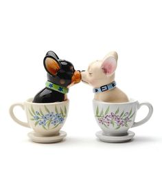 Look what I found on #zulily! Tea Cup Pups Salt & Pepper Shakers by Pacific Trading #zulilyfinds