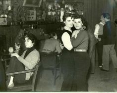 The Gateways Club - the famous lesbian nightclub at 239 Kings Road, c.1955.