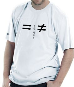 Uma camiseta bem descontraída.