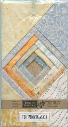 July19 #FlareFabricsTGIF giveaway. Repin for a chance to win this Creamsicle charm pack from Timeless Treasure. #quilting #sewing #batiks