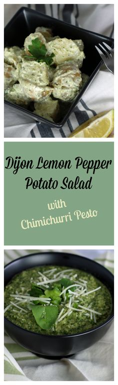 Dijon Lemon Pepper Potato Salad is really simple to make; beyond comparison when it comes to flavor. With dijon mustard , lemon juice and Chimichurri Pesto. From CulinaryEnvy.com