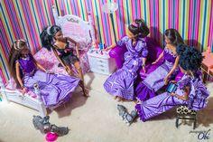 black barbie & ken's nigerian traditional wedding - barbie & her girls (in their aso ebi) getting ready