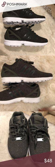more photos 5cd9a 6c63a Adidas Torsion Zx Flux sz 6.5 NWT Color is Utility Gray Black silver  Metallic